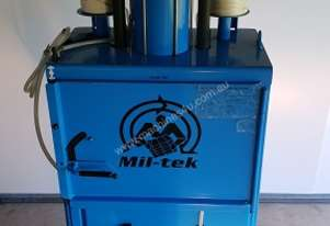 Mil-Tek 2006 Air Operated  AP 205 Waste Cardboard compactor Bale Press Recycling Denmark