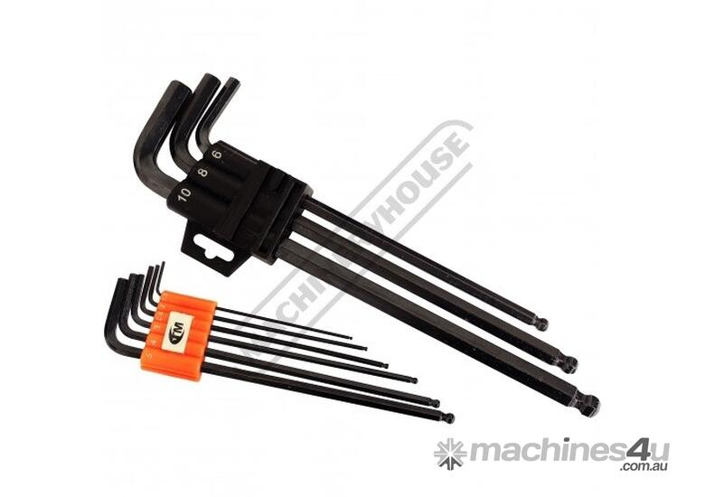 H801 Metric Hex Keys with Ball End - Long Series 1.5 - 10mm 9 Piece Set