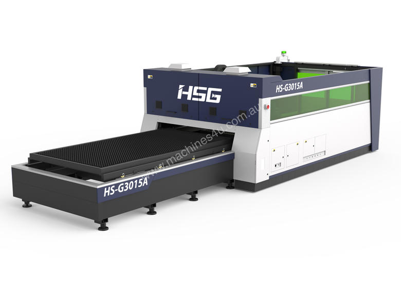** IN STOCK ** HSG 3015A 1kW Fiber Laser Cutting Machine - SANYO, ALPHA