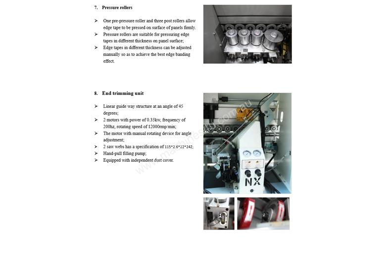NANXING Touch Screen 3 speed up to 24m/min Auto Edgebander NBC332 with extra Corner Rounding Machine
