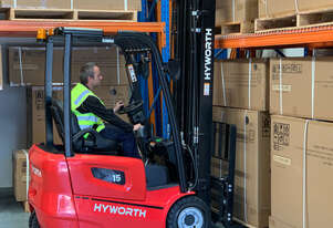 Hyworth 1.5T 3 Wheel Battery Electric forklift for HIRE