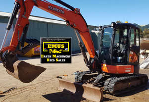 2012 Kubota U55-4, low hrs, attachments.  MS569