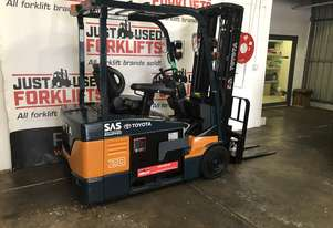 TOYOTA 7FBE20 53053 1.8 TON 1800 KG CAPACITY 3 WHEEL COUNTER BALANCED FORKLIFT CONTAINER MAST