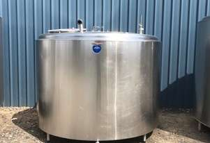 3,800ltr Jacketed Stainless Steel Tank, Milk Vat