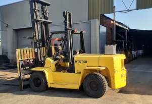 7 Ton Hyster 2000 Model 5.4m lift dual front wheel Side shift fork positioner 2.3 wide carriage