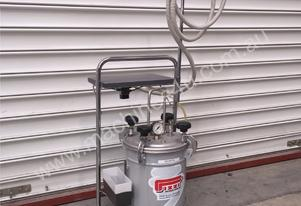 GLUE FEEDER TANK 12KG S/STEEL FOR PVA METERED NOZZEL WITH TROLLY 0165 PIZZI