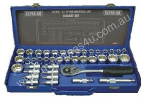 41 Piece Socket Set 1/2 Drive AF METRIC