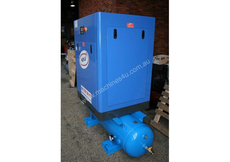 German Rotary Screw - 20hp / 15kW Rotary Screw Air Compressor with Air Receiver Tank.