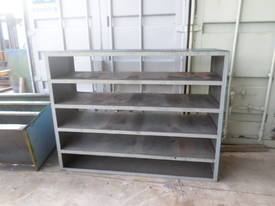 used unbranded industrial heavy duty shelving a metal. Black Bedroom Furniture Sets. Home Design Ideas