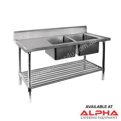 F.E.D. DSB7-1500R/A Double Right Sink Bench with Pot Undershelf