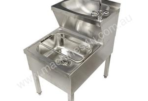F.E.D. HWBS-510CB Double Mop Sink with Hand Basin & Faucet