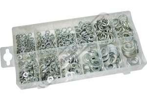 K72116 Metric Flat & Spring Washer Assortment 790 Piece