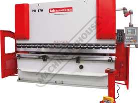 PB-170B Hydraulic NC Pressbrake 176T x 3200mm Estun NC-E21 Control 2-Axis with Hardened Ballscrew Ba - picture2' - Click to enlarge