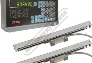 XH-2P 2-Axis Digital Readout Package Deal Includes 1 x DRO Counter, 2 x Scales & 1 x Bracket Kit Sui