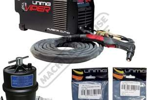 VIPERCUT 40 Plasma Cutter Package Deal 12mm Steel Capacity #KUPJRVC40 Includes Filter & Consumable P