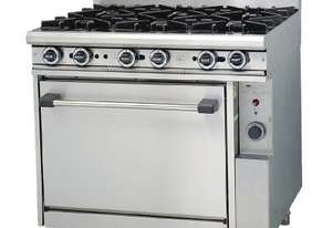Trueheat 6 Burner Gas Stove & Static Oven LPG R90-6