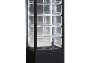 ICS Venice Tower Four Sided Glass Refrigerated Display in Black-Bench Top