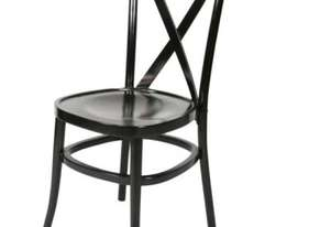 F.E.D. ZS-W01BL Black Classic cross back wooden dining chair