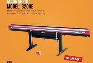 3200E Magnabend 3200mm x 1.2mm Capacity Electric Panbrake Folder