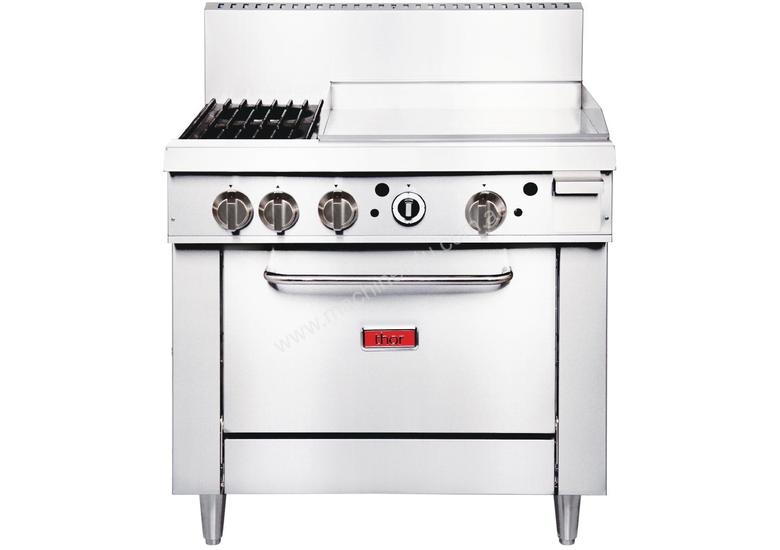 Thor GE543-N - Gas Oven Ranges with 2 Burners & 600mm Griddle Natural Gas