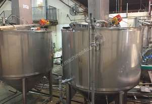 1200 litre Jacketed tank with stirrer