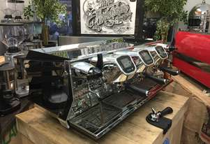 BFC AVIATOR ELECTRONIC 3 GROUP BLACK STAINLESS ESPRESSO COFFEE MACHINE CAFE CART