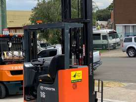 Toyota 1.6T Ride On Reach Truck for HIRE from $200pw + GST - picture3' - Click to enlarge