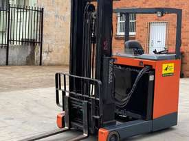 Toyota 1.6T Ride On Reach Truck for HIRE from $200pw + GST - picture2' - Click to enlarge