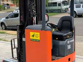 Toyota 1.6T Ride On Reach Truck for HIRE from $200pw + GST - picture0' - Click to enlarge