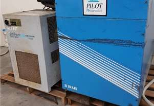 PILOT PS 37 ROTARY SCREW COMPRESSOR 37Kw Low Hours INCLUDING PILOT ACT 60T AIR DRYER from $3,500