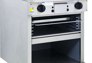 600mm Griddle Toaster with cabinet base and toasting racks