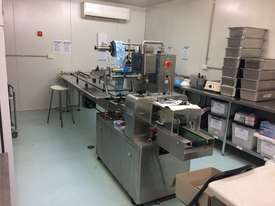 Flamingo Stainless Steel Horizontal Flow Wrapper Packing Machine + Anser U2 Pro-S label/date printer - picture0' - Click to enlarge