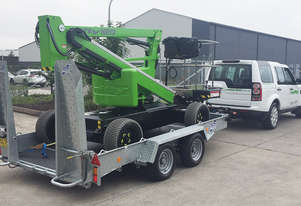 Nifty HR12L low weight electric cherry picker - under 3.5 tonnes including trailer pack