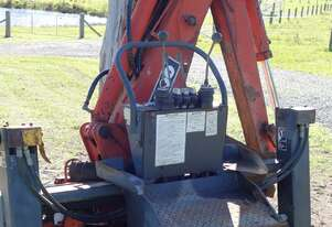 Tractor Side Shifting Backhoe Attachment off Kubota L35, Chassis Attachment NOT 3PT Linkage Type