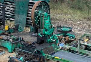 Sawmill processing band re saw.