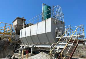 TRAILER MOUNTED CEMENT SILO 75 CUBES APPROX