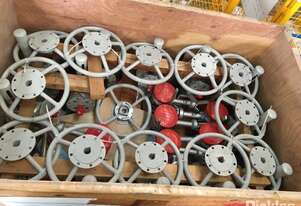 Crate of 29 Ball Valves & 13 Globe Valves