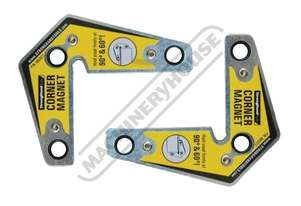 MST327 Corner Magnets - (2-Pack) 83 x 95 x 16mm 14kg Pull Force