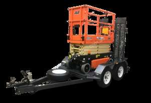 NEW JLG 1932R 19 ft Electric SCISSOR LIFT /TRAILER PACKAGE