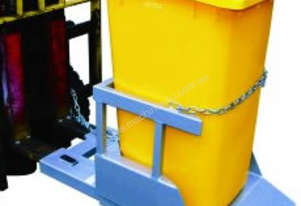 Forklift Mounted Wheelie Bin Tippers for 1 Wheelie