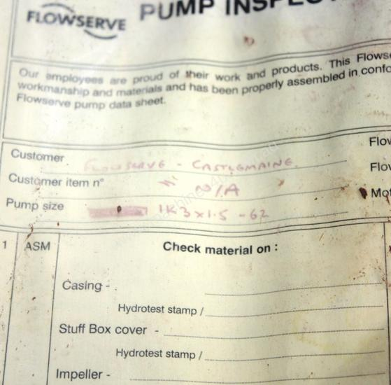 Mark 3 Stainless chemical process Pump
