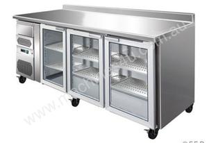 F.E.D. CM20G TROPICALISED three door Bar Fridge