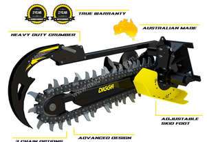2018 DIGGA BIGFOOT 1200 XD HF TRENCHER ATTACHMENT to suit MACHINES 4.5T - 8T