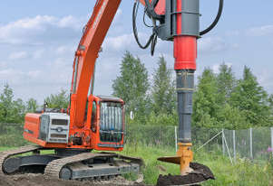 MOVAX TAD-32 EXCAVATOR MOUNTED PILING DRILL