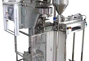 Sachet Packer with Volumetric Cup Filler and Piston Pump