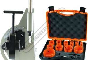 PN1/2-2P1 Pipe & Tube Notcher Attachment & Hole Saw Set Package Deal Ø19.05 - Ø50.8mm OD Tube Capa