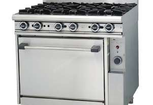 Trueheat 6 Burner Gas Stove & Static Oven Natural Gas R90-6