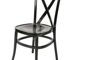 F.E.D. ZS-W01BR Brown Classic cross back wooden dining chair