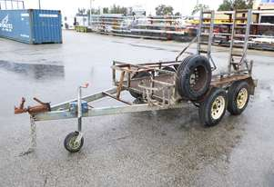 2007 Salloy Flat Top Tandem Axle Plant Trailer IN AUCTION