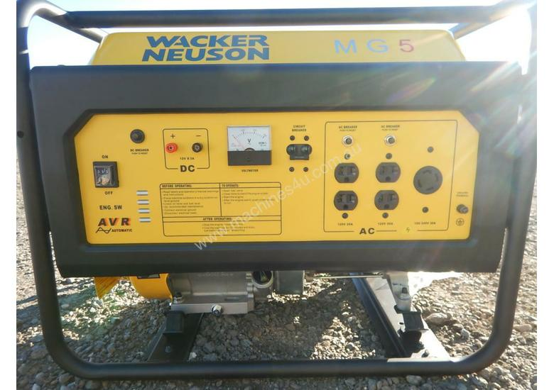 Wacker Neuson MG5 5.0Kw Air Cooled Petrol Generator
